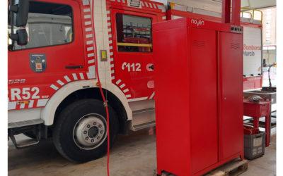 Entrega de un armario de secado, higienizante y desinfectante al Ayuntamiento de Murcia
