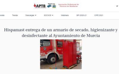 APTB: Hispamast entrega un armario de secado al Ayuntamiento de Murcia