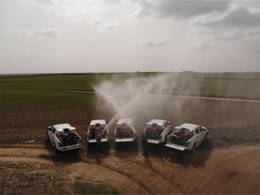 Hispamast suministra 27 Equipos contra incendios de Alta Presión a Tragsa